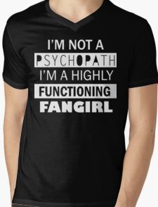I'm a Highly Functioning Fangirl Mens V-Neck T-Shirt