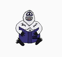 Funny Cool Abominable Snowman Reading Global Warming Book Unisex T-Shirt