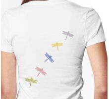 Dragonflies Pattern Womens Fitted T-Shirt
