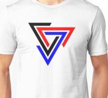Tessellating Triangle Spiral Unisex T-Shirt