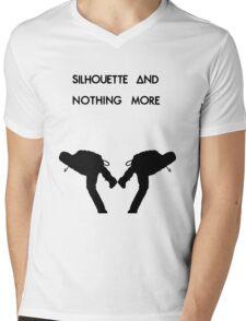 Dan Smith Silhouette (Black on White) Mens V-Neck T-Shirt