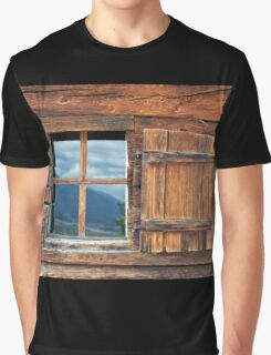 Window and Reflection Graphic T-Shirt