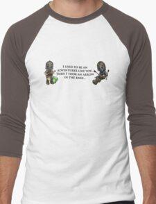 Arrow in the Knee Meme Men's Baseball ¾ T-Shirt