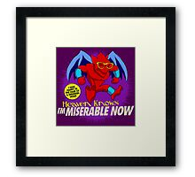 The Smiths 8-bit Project - Heavens Knows I'm Miserable Now Framed Print
