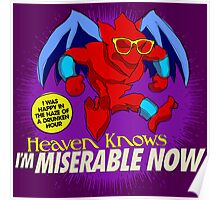 The Smiths 8-bit Project - Heavens Knows I'm Miserable Now Poster