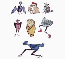 Silly Bird Stickers by ravefirell