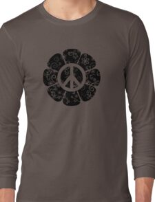 Peace Symbol Flower Long Sleeve T-Shirt