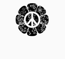 Peace Symbol Flower Womens Fitted T-Shirt
