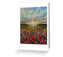 Starlight Poppies Greeting Card