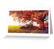Tank beneath a wonderful tree Greeting Card