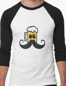 Beer Mustache Men's Baseball ¾ T-Shirt