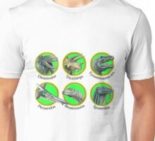 Prehistoric Animal Roundels Unisex T-Shirt