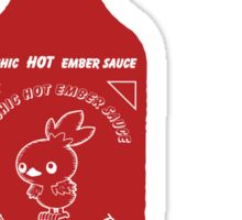 Torchic Hot Ember Sauce  Sticker