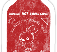 Torchic Hot Ember Sauce  - Distressed  Sticker