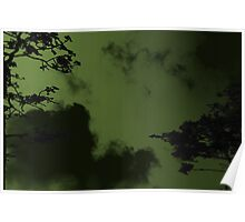 Creepy Green Sky Poster