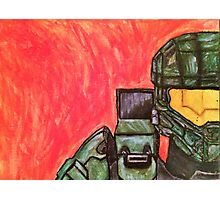 Master Chief Halo Tribute Photographic Print
