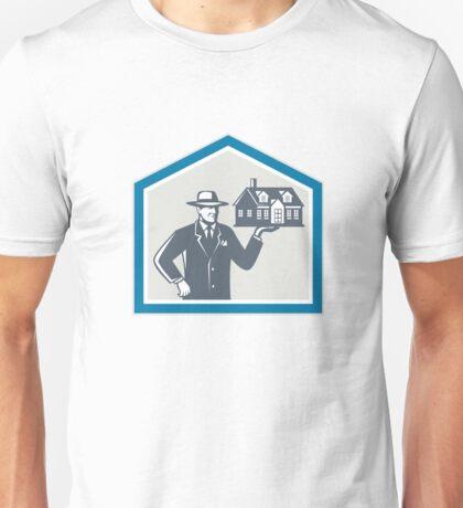 Real Estate Salesman Sell House Retro Unisex T-Shirt