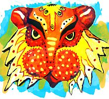 The Colorful Lion- Bengali Design by Ginny Luttrell