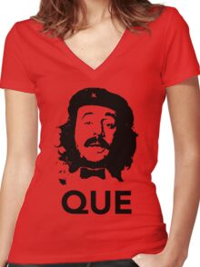 Que guevara Women's Fitted V-Neck T-Shirt