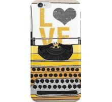 Typing LOVE  iPhone Case/Skin