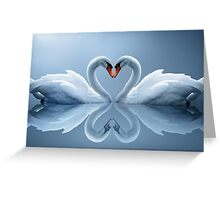 swan heart Greeting Card