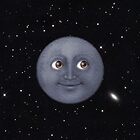 Moon Emoji in Space by lasarack