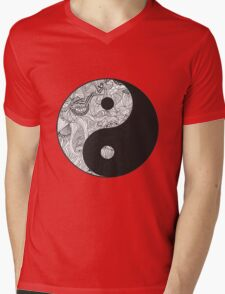 Yin and Yang Mens V-Neck T-Shirt