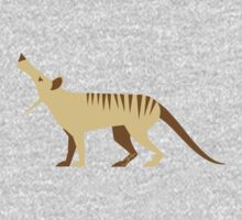 EXTINCT: Thylacine (Tasmanian Tiger) One Piece - Short Sleeve