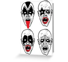 Kiss Rock Band Zombies Greeting Card