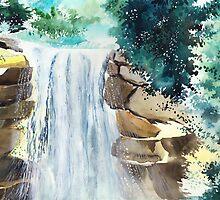 Falling Waters by Anil Nene