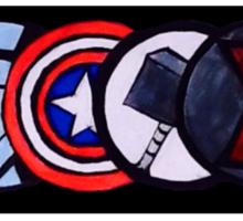 Avenger Badges  Sticker