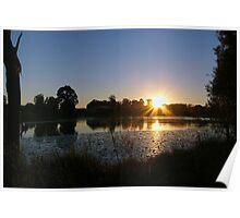 Sunrise Over Halpine Lake Poster