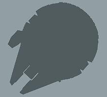 Millennium Falcon Steel Grey by meandthemoon