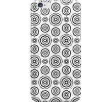Black dots circles pattern on white background iPhone Case/Skin