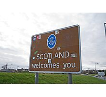 Welcome to Scotland sign Photographic Print