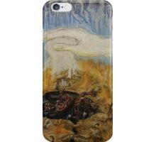 God judging Satan iPhone Case/Skin