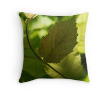 Hazel Leaves - New Life in the Springtime Forest Throw Pillow