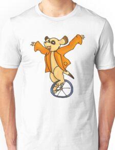 Meerkat withUnicycle Unisex T-Shirt