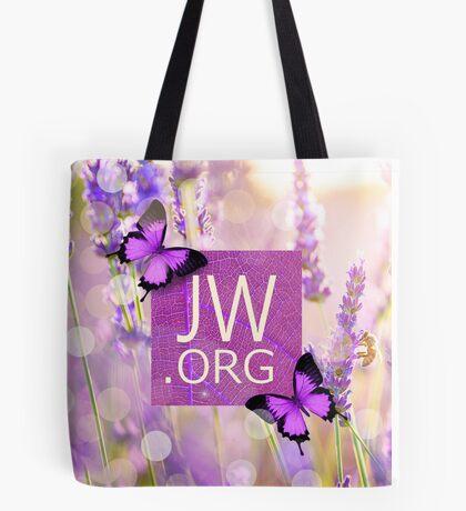 JW.ORG (Purple Butterflies) Tote Bag