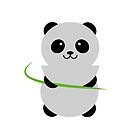 Panda with Bamboo by ianupcott
