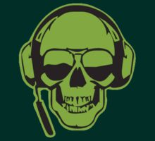Skull DJ Green T-Shirt by Axwel