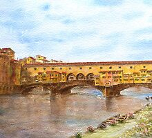 Ponte Vecchio, Florence, by Paul Sagoo by HurstPainters