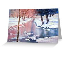 River scene with snow by Paul Sagoo Greeting Card