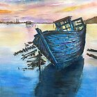 Old boat by Paul Sagoo by HurstPainters