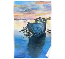 Old boat by Paul Sagoo Poster