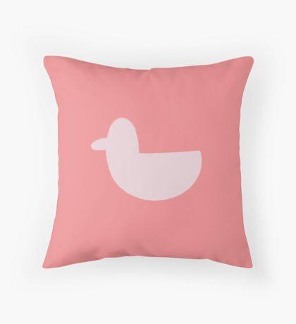 Pink Duck Throw Pillow