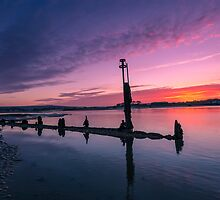 Bembridge Harbour Sunset by manateevoyager