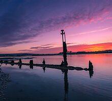 Bembridge Harbour Sunset by manateevoyager