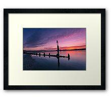 Bembridge Harbour Sunset Framed Print
