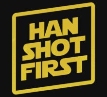 Han Shot First Kids Tee
